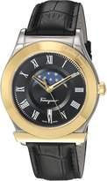 Salvatore Ferragamo Men's 'FERAGAMO 1898' Quartz Stainless Steel and Leather Casual Watch, Color: (Model: FBG020016)