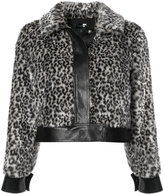 Mother leopard print cropped jacket