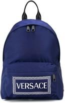 Versace printed logo backpack