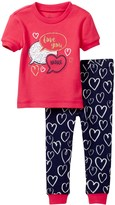 Petit Lem Love You More Pajama - 2-Piece Set (Baby Girls)