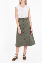 Markus Lupfer Cotton Drill Edie Skirt