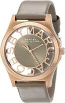 Marc Jacobs Marc by Women's MBM1245 Skeleton Rose-Tone Stainless Steel Watch with Leather Band