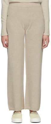 Max Mara Leisure Beige Woolmark Sofocle Lounge Pants
