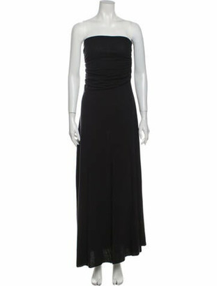 Rick Owens Strapless Long Dress Grey