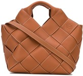Loewe woven leather tote bag