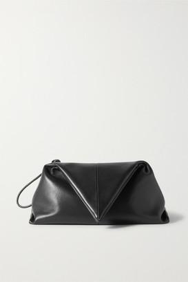Bottega Veneta Trine Leather Clutch - Black