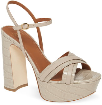Malone Souliers Mila Cross Strap Platform Sandal