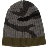 Valentino Camouflage-print Ribbed-knit Beanie Hat