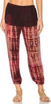 Raquel Allegra Silk Sweatpant in Red. - size 0 / XS (also in 1 / S)