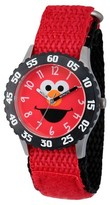 Sesame Street Stainless Steel Time Teacher Watch - Red