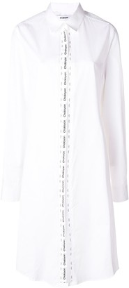 Chalayan logo tape shirt dress