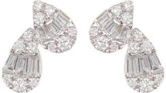 Bony Levy Mika 18K White Gold Diamond Petite Double Pear Shape Stud Earrings - 0.24 ctw