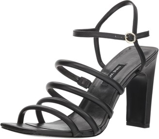 Nine West Women's LAXIAN Leather Heeled Sandal