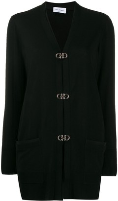 Salvatore Ferragamo Gancini buckle long cardigan