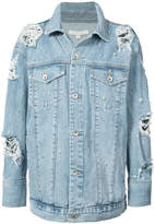 Jonathan Simkhai denim beaded jacket