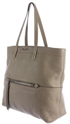 Miu Miu Grained Leather Shopping Tote