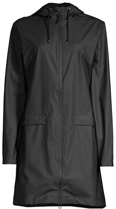 Rains Hooded Zip-Up Mackintosh