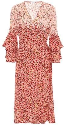 Poupette St Barth Paloma wrap midi dress