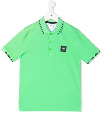 Boss Kidswear Logo Patch Polo Shirt