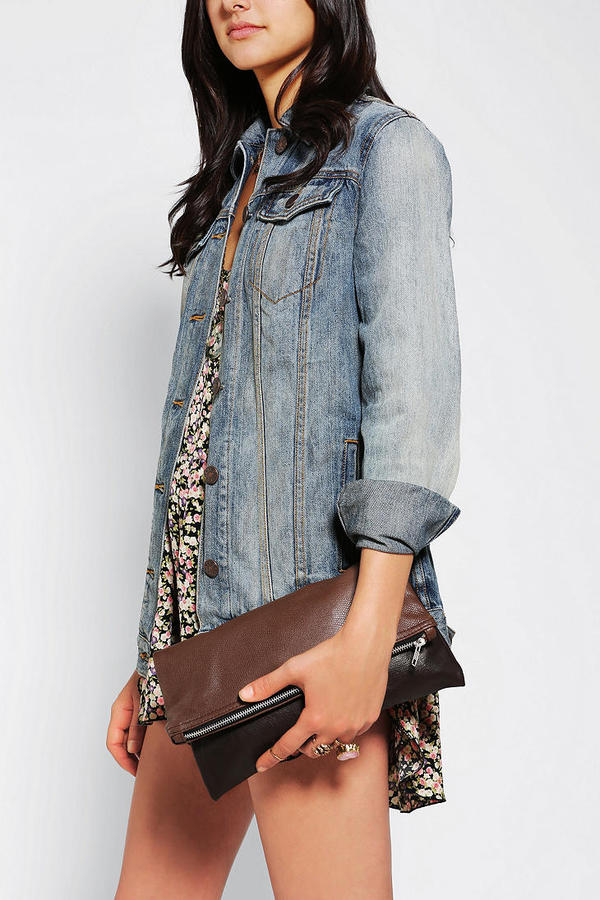Urban Outfitters Rag Union X Urban Renewal Leather Zip Clutch