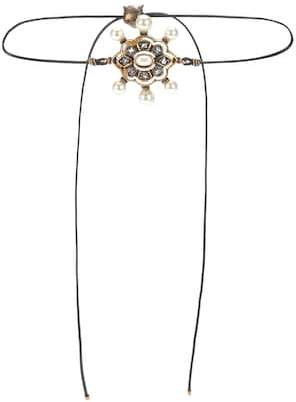 Gucci Pin Cushion embellished choker