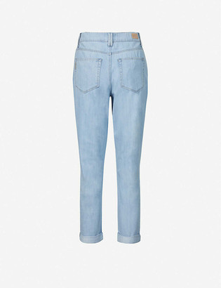 Paige Pleated high-rise jeans