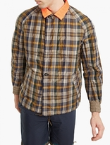 Kolor Checked Jacket With Contrasting Collar