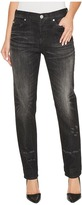 Hudson Riley Crop Relaxed Straight in Fragmented Women's Jeans
