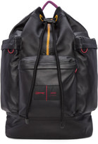 Ami Alexandre Mattiussi Black Eastpak Edition Leather Backpack