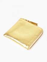 Comme Des Garcons Wallet Gold Leather Coin Wallet