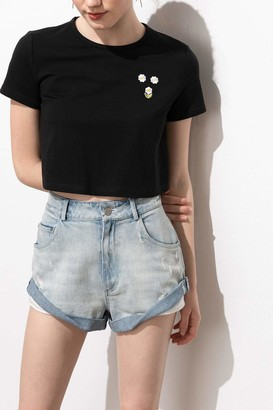 J.ING Aisha Rolled Cuff Denim Shorts