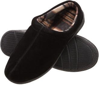 Heat Edge Mens Memory Foam Suede Slip on Indoor Outdoor Clog Slipper Shoe (10