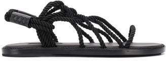 Ann Demeulemeester Cord Crisscross Strap Sandals