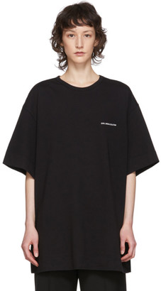 Juun.J Black Module Collection Logo T-Shirt