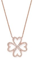 Bloomingdale's Diamond Four-Leaf Clover Pendant Necklace in 14K Rose Gold, .40 ct. t.w.