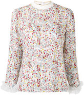 Mother of Pearl White) - floral print blouse - women - Silk/Polyamide - 10