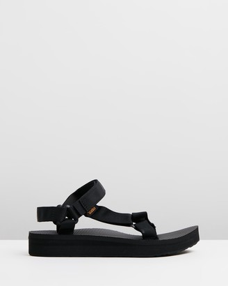 Teva Women's Black Flat Sandals - Midform Universal - Women's - Size 5 at The Iconic