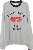Zoe Karssen Grey Slogan Jumper