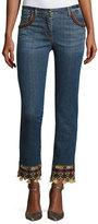 Etro Tassel-Hem Denim Jeans, Denim