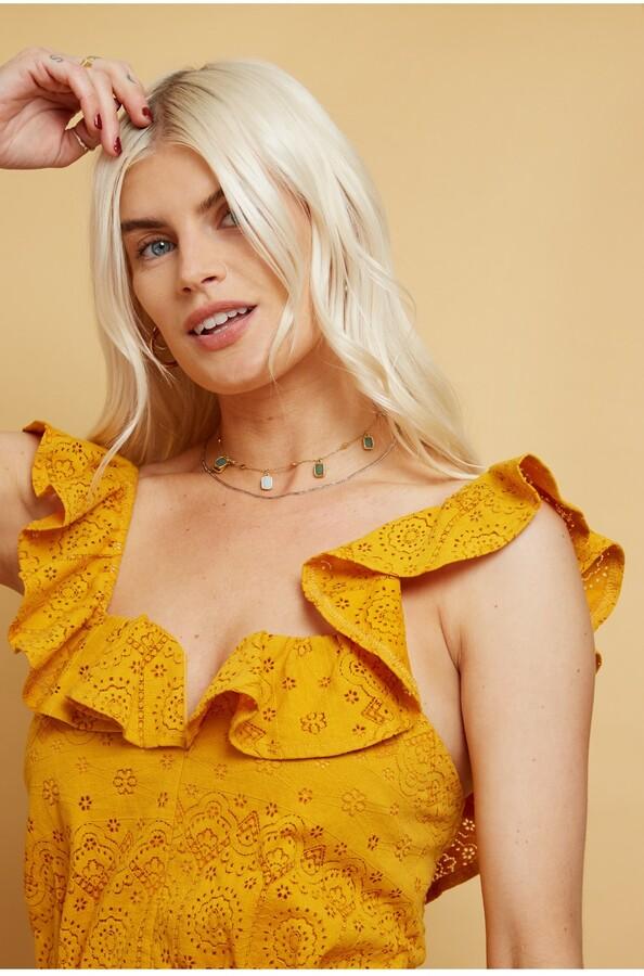 Thumbnail for your product : Little Mistress Livia Sunflower Cutwork Midi Dress