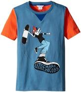 Little Marc Jacobs Jersey Tee Shirt Fancy Crocodile On Front (Big Kids)