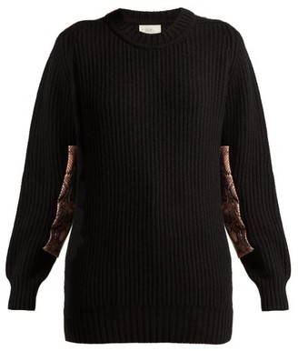 Hillier Bartley Contrast Panel Cashmere Sweater - Womens - Black Pink