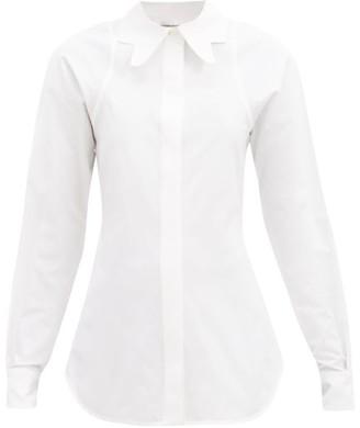 Victoria Beckham Butterfly-collar Cotton-faille Shirt - White