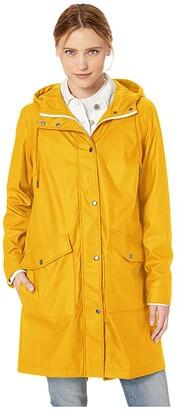 Levi's Rubberized PU Fishtail Rain Parka (Light Blue) Women's Coat