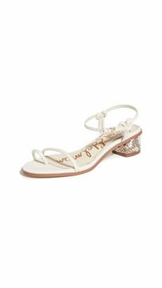 Sam Edelman womens Isle Heeled Sandal White 6 M