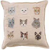 Coral & Tusk Cat 16x16 Pillow - Natural