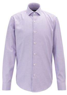 BOSS Micro-structured regular-fit shirt with aloe vera finish