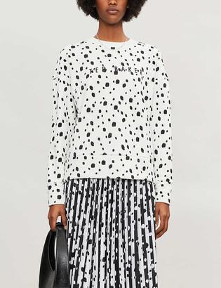 Ted Baker Dotty swarovski-embellished polka dot cotton-jersey sweatshirt