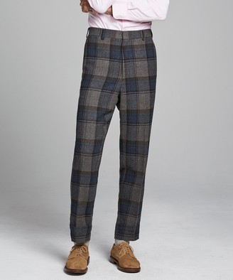 Todd Snyder Oversized Check Sack Suit Pant in Charcoal