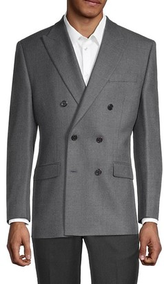 Lauren Ralph Lauren Standard-Fit Wool-Blend Double-Breasted Jacket